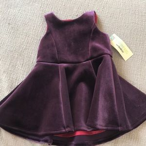 Velvet purple dress - osh kosh